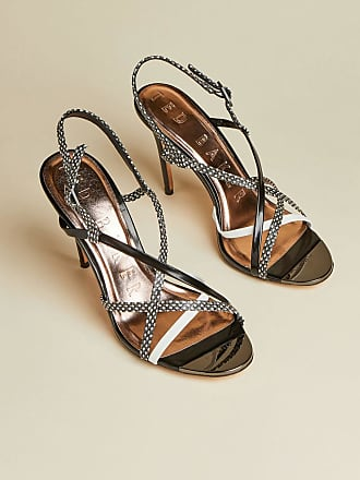 Ted Baker Snakeskin Leather Strappy Sandals in Black THEANAA, Womens Accessories