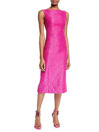 b236653dcb4fe Brandon Maxwell Sleeveless Leopard-Jacquard Midi Sheath Cocktail Dress