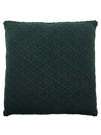 Allude Diamond-knitted Cashmere Cushion - Dark Green