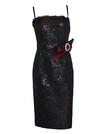 Dolce   Gabbana Dolce Gabbana Lace Up Corset Dress With Jeweled Crystal  Brooch Ornament 095ca5c96