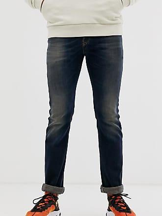 Diesel Safado-X straight fit jeans in 0890Z dark wash-Blue