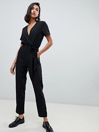 Vero Moda Wrap Front Jumpsuit - Black