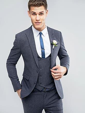 Asos ASOS Wedding - Veste de costume super slim à petits carreaux - Bleu -  Bleu 08c5217c739