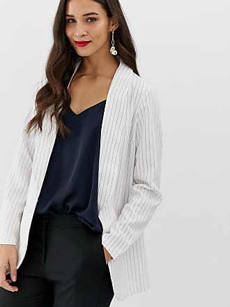 Y.A.S Liva pinstripe tailored two-piece blazer - White