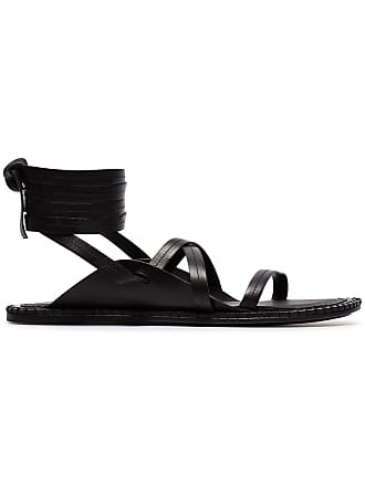 bb827519d924 Ann Demeulemeester black lace-up leather sandals