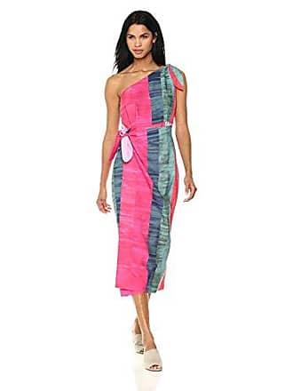 65e583b0326 Mara Hoffman Womens Bette One Shoulder Midi Dress, Solenne Pink/Multi Medium