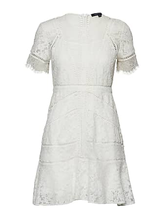 1082446a50e4 French Connection Chante Lace Short Sleeve Dress Kort Klänning Vit FRENCH  CONNECTION