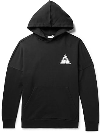Palm Angels Oversized Logo-print Loopack Cotton-jersey Hoodie - Black