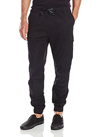 Hudson Mens Elliot Drawstring Cargo Pant, Black, X-Small