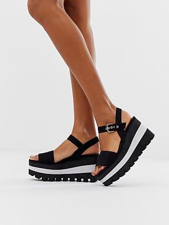 Qupid Qupid sporty flatform sandals - Black