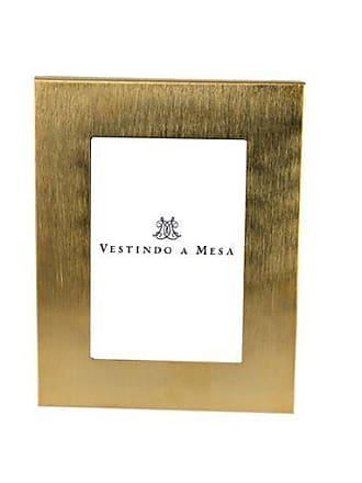 Vestindo a Mesa Porta Retrato Carrara Gold P