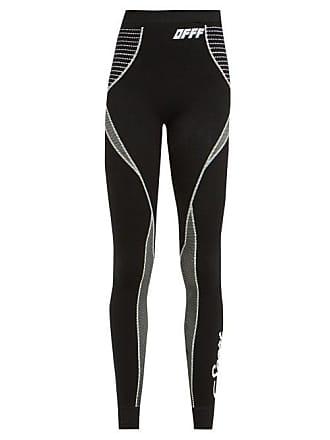 cb6e723d721 Off-white Off-white - Off Waist Panel Stretch Leggings - Womens - Black