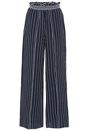 Jonathan Simkhai Striped slit-front wide-leg pants
