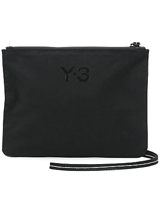 Yohji Yamamoto Clutch con logo - Di Colore Nero 09a739c281a