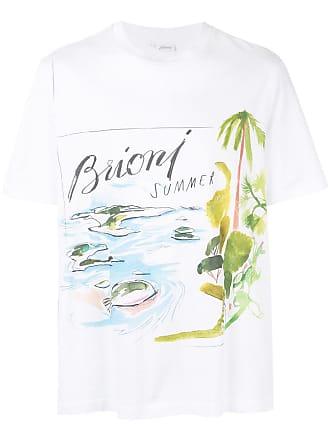 Brioni Camiseta com estampa - Branco