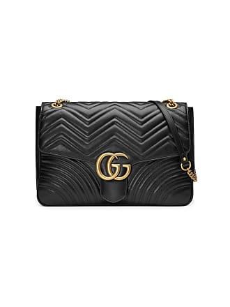 Gucci Bolsa tiracolo GG Marmont grande - Preto 264e03377cc