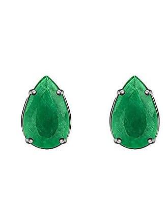 Monte Carlo Joias Brinco em Prata com Jade Verde