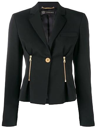Versace Jaqueta slim com botão - Preto
