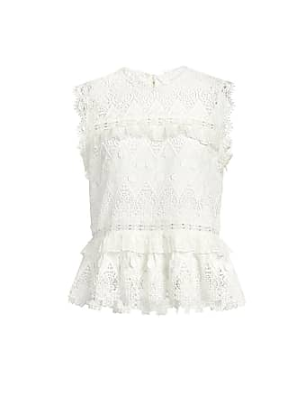 Alexis Effie Tie-Back Ruffled Lace top White