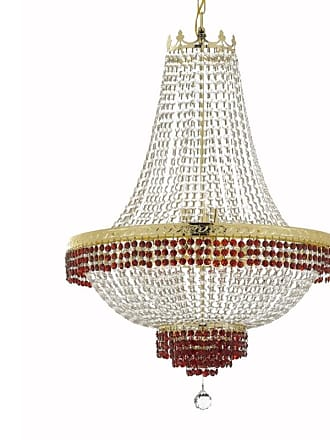 Gallery T22-2270 14 Light 30 Wide Crystal Empire Chandelier with Red