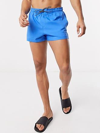 Puma short length swim shorts in blue