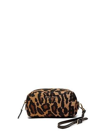 97eebdac7d Miu Miu Trousse de maquillage en faille à imprimé léopard