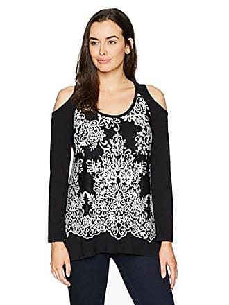 965a30880ca Karen Kane Womens Plus Size Lace Overlay Cold Shoulder Top
