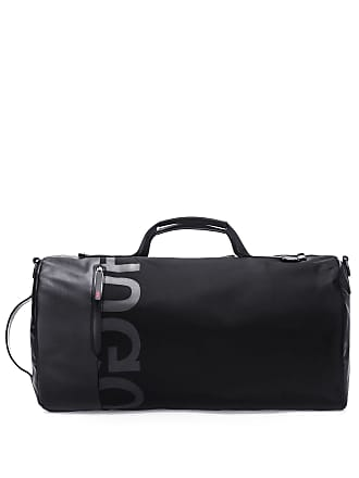 Hugo Boss Reverse Logo Holdall In Technical Gabardine One Size Black