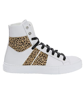 Amiri White Mens Leopard Sunset High-sneakers - The Webster