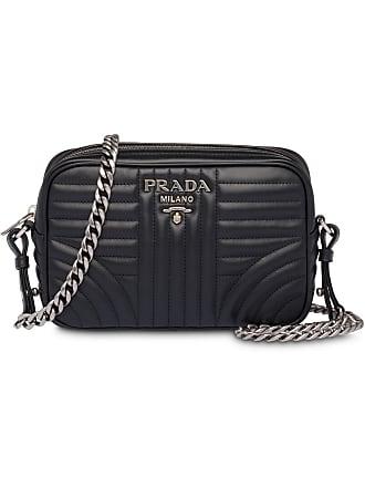 68e3e0877149 Prada Diagramme leather cross-body bag - Black
