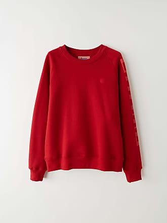 Acne Studios BK-UX-SWEA000004 Cardinal red Raglan sleeve sweatshirt