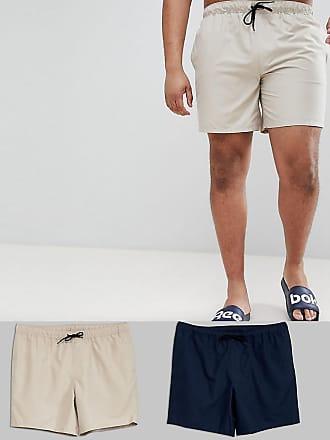 992f94891d3b2 Asos plus - Lot économique de 2 shorts de bain mi-longs - Bleu marine