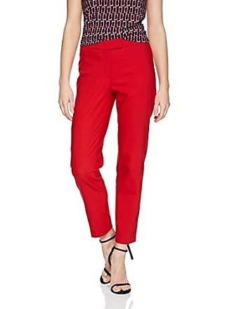 Anne Klein Womens Crepe Slim Pant, Marine RED, 10