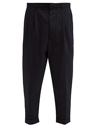 Ami Ami - Tapered Cotton Twill Chino Trousers - Mens - Navy