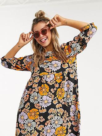 Monki Romina - Blommig miniklänning-Flerfärgad