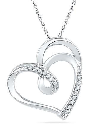 Zales 1/20 CT. T.w. Diamond Looping Heart Pendant in Sterling Silver