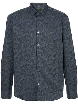 Durban Camisa com padronagem camuflada - Azul