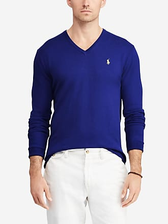 a4ec542a65d Polo Ralph Lauren Pull en coton pima slim fit Bleu Polo Ralph Lauren