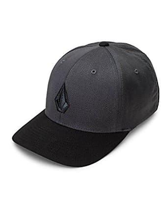 Volcom Mens Full Stone Xfit Hat, Asphalt Black, Large/X-Large