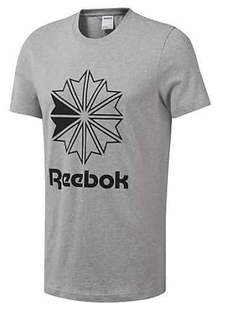 462959dd7 Reebok Mens Big Logo Tee Shirt, Medium Grey Heather, XL/TG