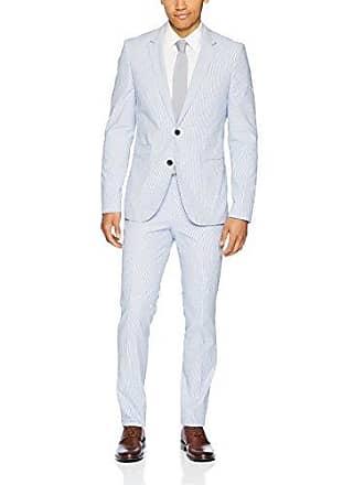 e48dd73d HUGO BOSS Hugo Hugo Mens Slim Fit Seersucker Suit-Arti/hesten, Turquoise/