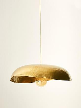 Cyrillus Hängelampe aus geschlagenem Metall goldfarben