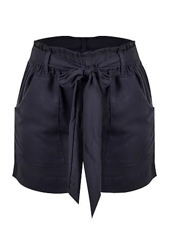 Outlet Dri Shorts OutletDri Curto Passante Laço Frontal Cordão E Bolso Preto