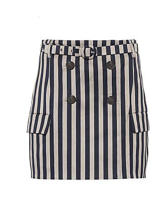 Jonathan Simkhai Striped belted skirt