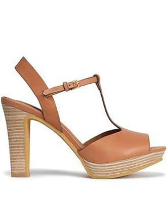 1e8320f51d5e See By Chloé See By Chloé Woman Leather Platform Sandals Tan Size 35