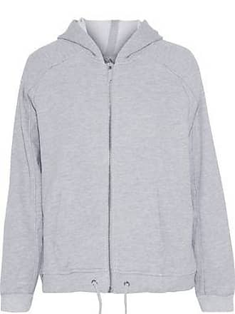 Zoe Karssen Zoe Karssen Woman Printed Cotton Hooded Jacket Gray Size XS