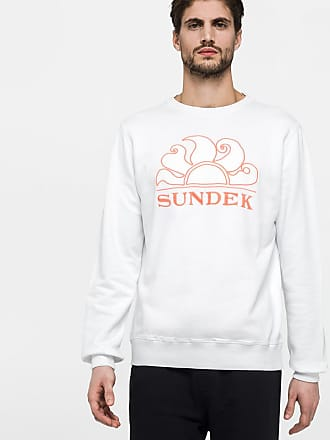 Sundek scoop neck sweatshirt with embroidery logo