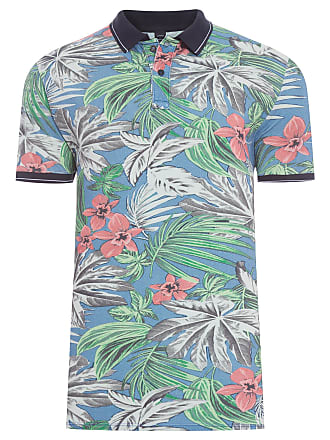 Replay POLO MASCULINA ESTAMPA FLORAL - VERDE