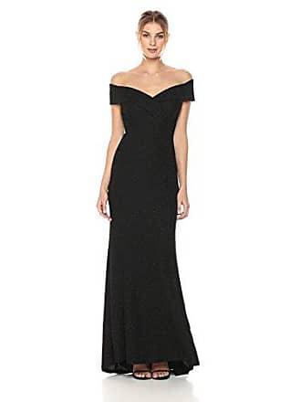 b15c40cfd9e Eliza J Womens Off-The-Shoulder Glitter Gown