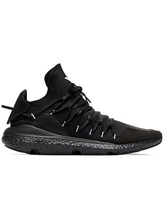 Yohji Yamamoto black leather Kusari sneaker ddc810597